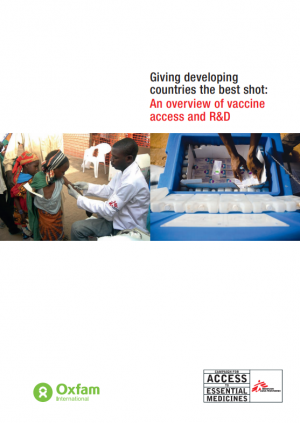 Giving developing countries the best shot: an overview of vaccine access and R&D
